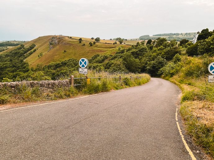 The road leading to the River Wye from Monsal Head