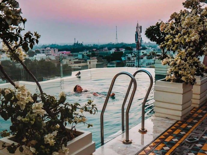 Narendra Bhawan Bikaner rooftop pool