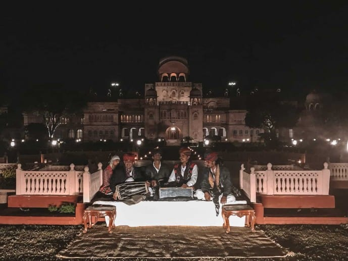 Al Fresco Dining at Laxmi Niwas Palace