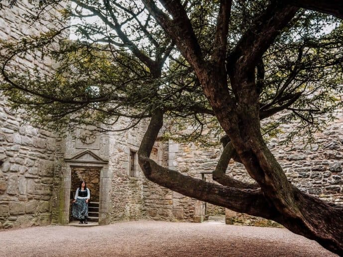 Craigmillar Castle courtyard
