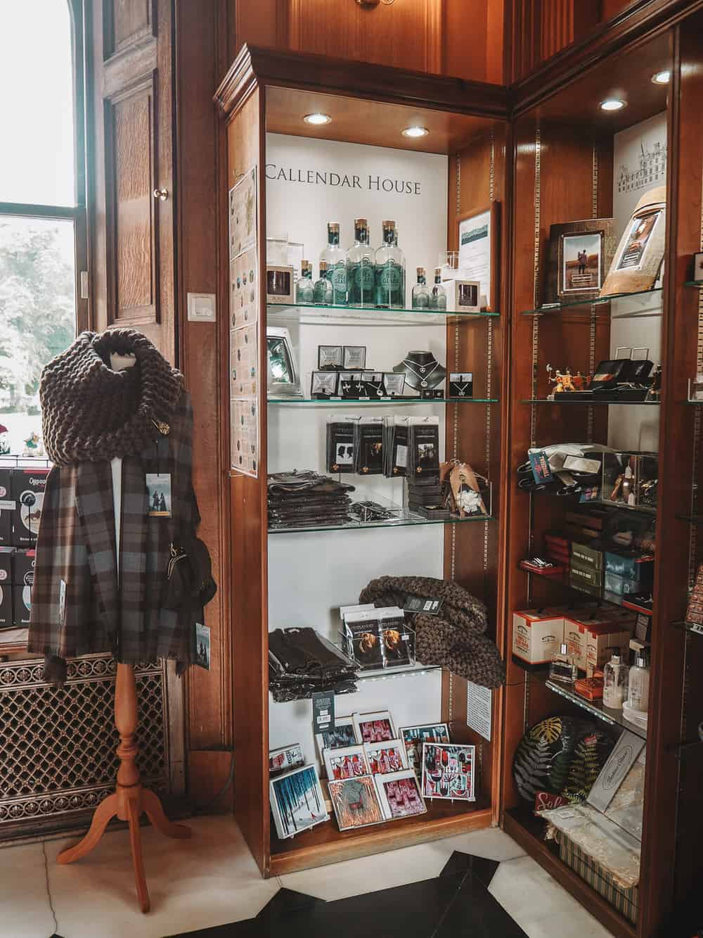 Outlander souvenirs at Callendar House Gift Shop