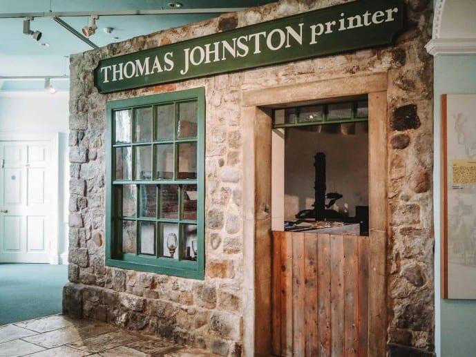 Thomas Johnston Printshop at Callendar House is similar to Alexander Malcolm's print shop