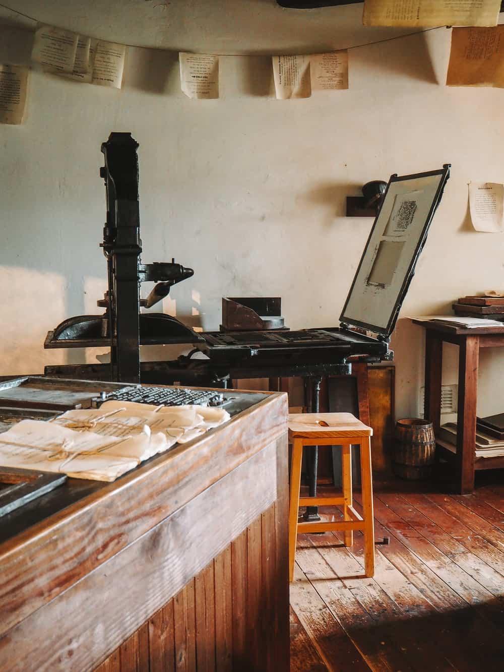 Callendar House 18th century printing press