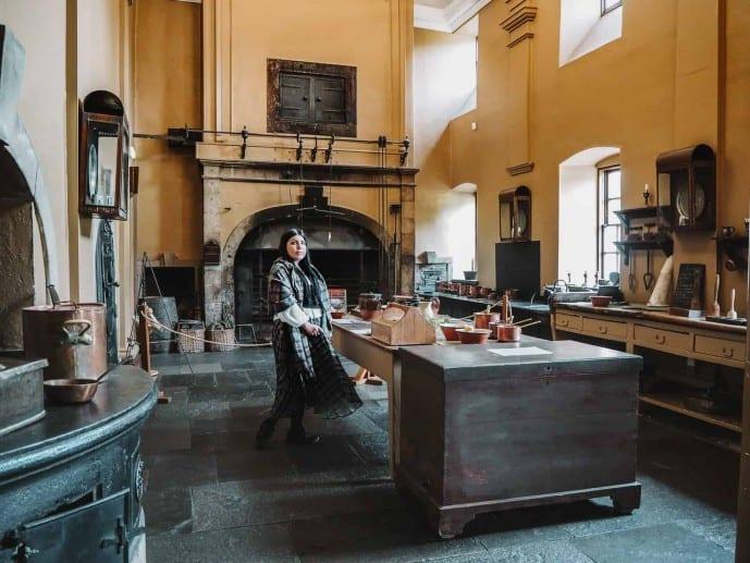 The Callendar House Outlander location was the Duke of Sandringham's kitchen