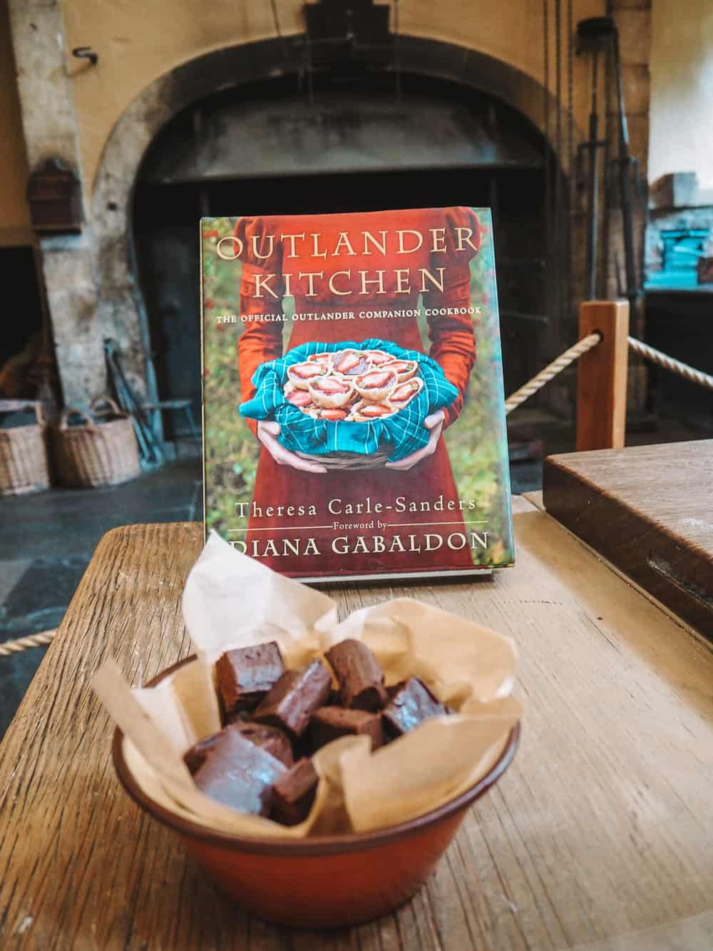 Black Jack Randall's Dark Chocolate Lavender fudge from the Outlander Kitchen cookbook…delicious!