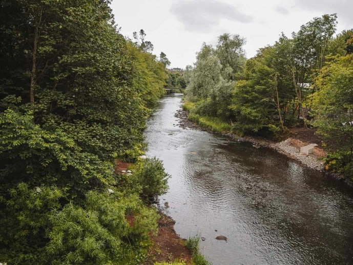 The River Kelvin from the Prince of Wales Bridge