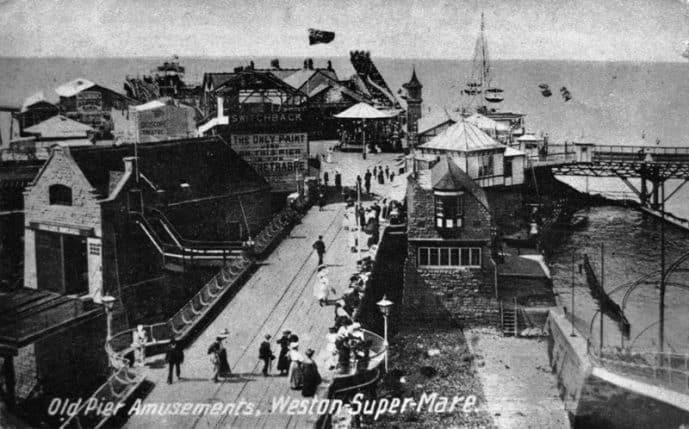 Birnbeck pier in its heyday Weston-super-Mare