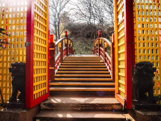 Peasholm Park arch bridge
