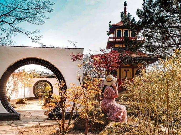 Peasholm Park oriental gardens