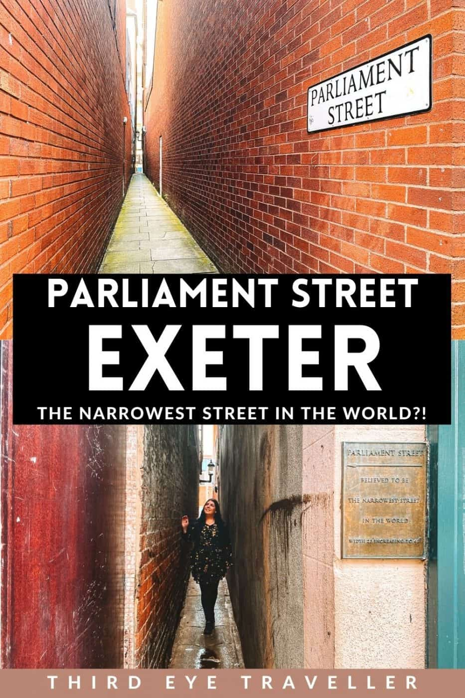 Parliament Street Exeter Narrowest Street in the world