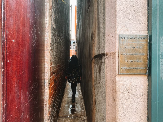 Parliament Street Exeter Narrowest Street in Britain