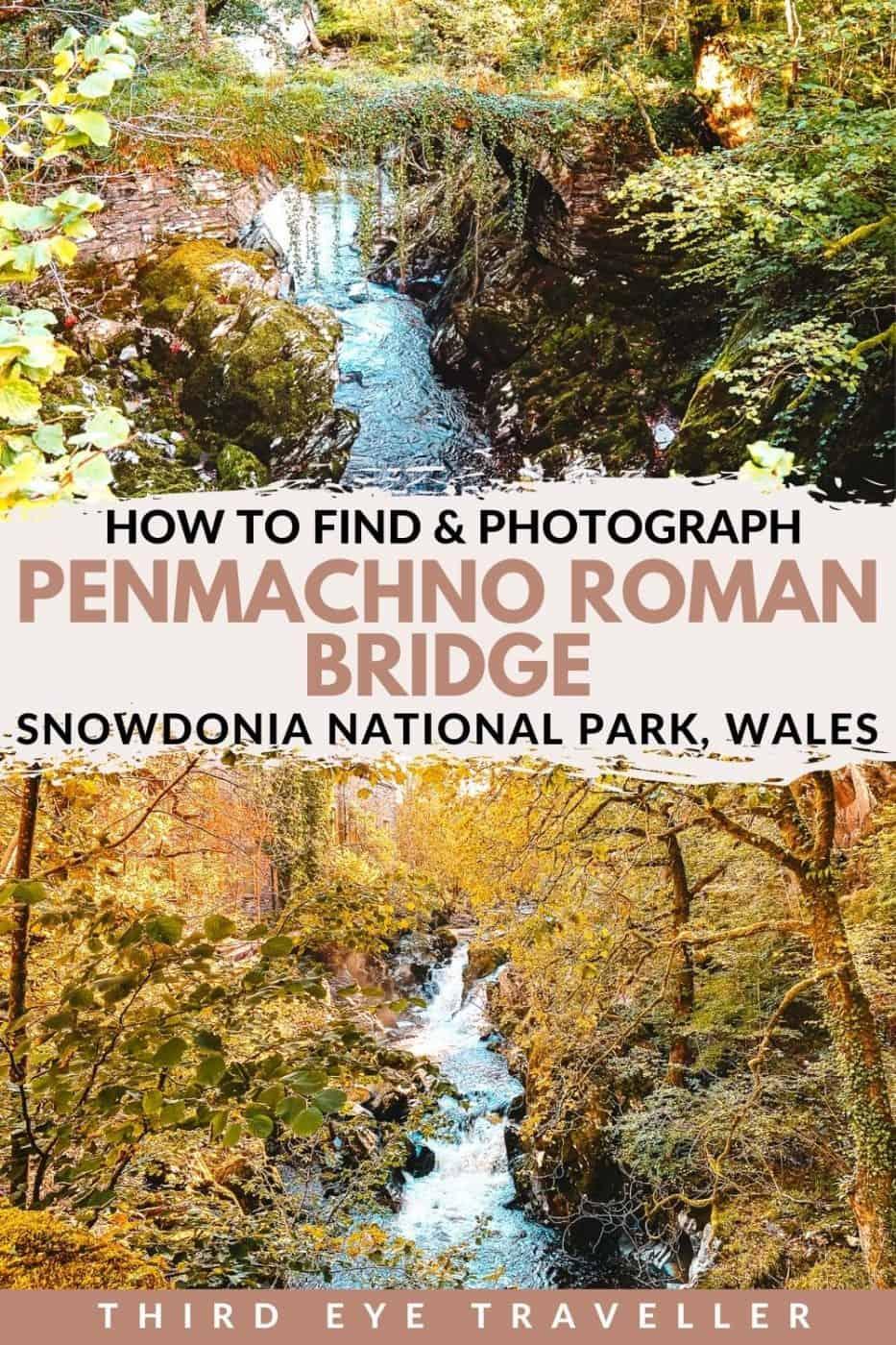 Penmachno Roman Bridge Pandy Falls Wales