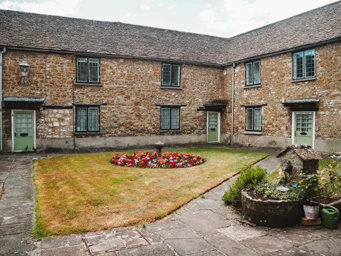 Perry and Dawes Almshouses Wotton under Edge Courtyard Garden