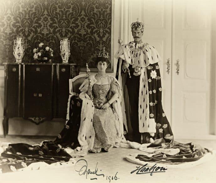 Queen Maud & King Haakon VII in 1906