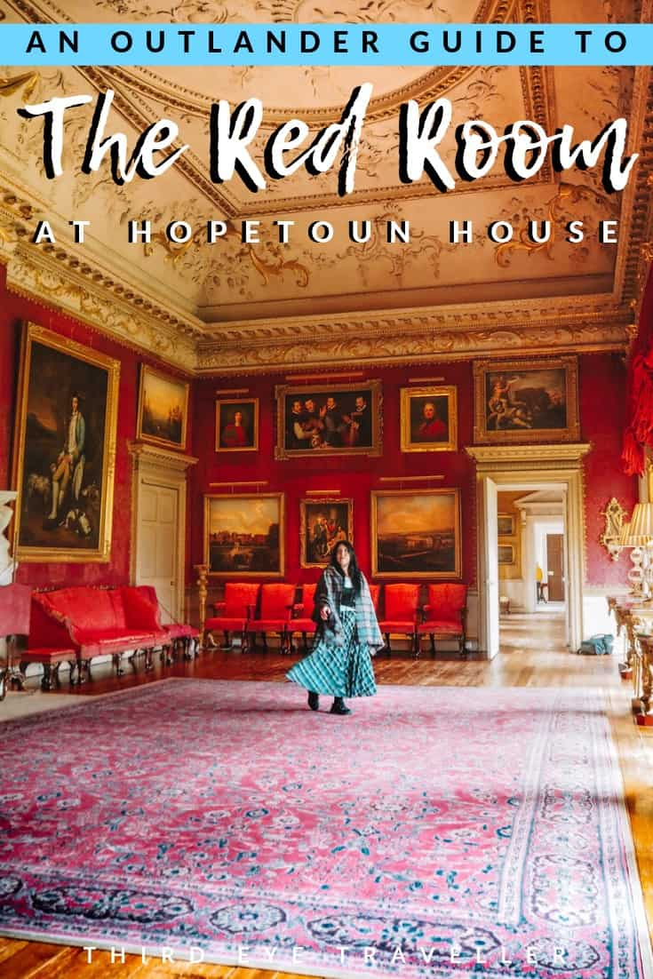 Hopetoun House Red Room Outlander