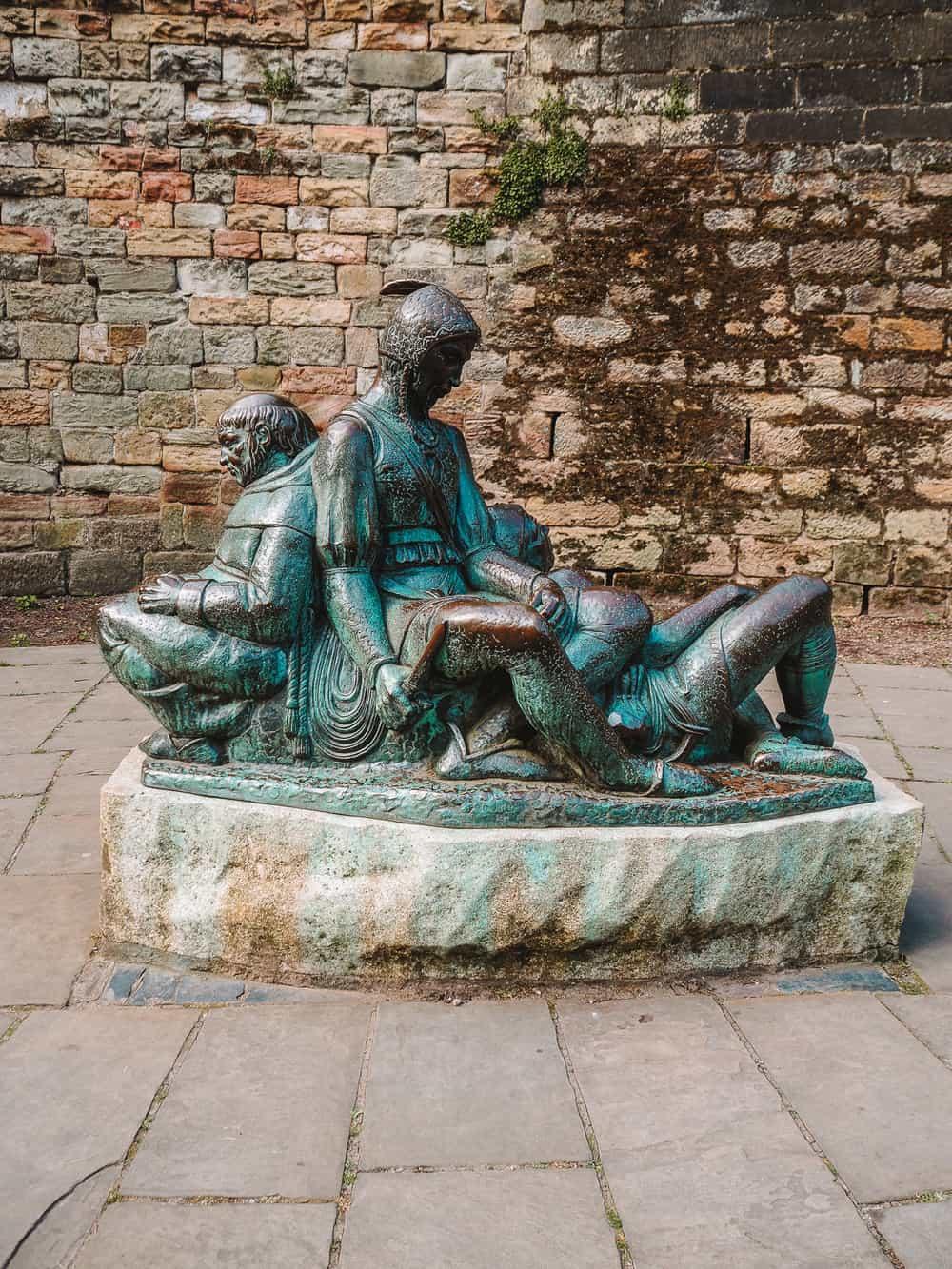 Little John Statue outside Nottingham Castle