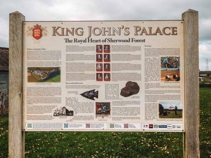 the new sign at King John's Palace