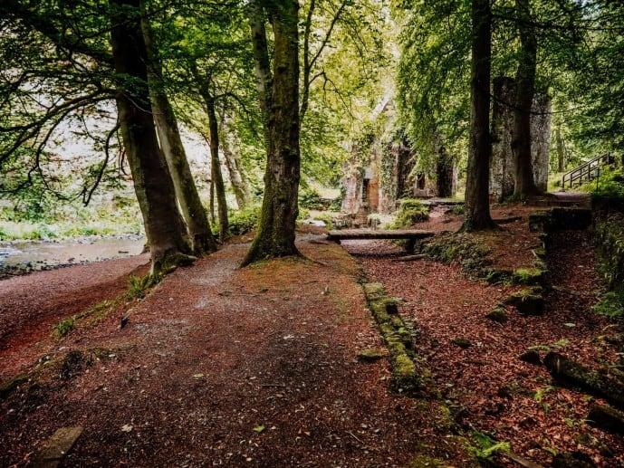 Roslin Glen Country Park outlander location gunpowder mills