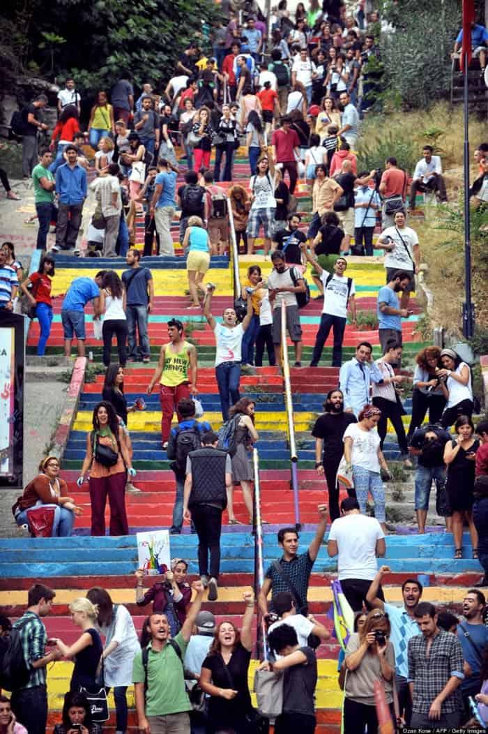 Rainbow Stairs Istanbul Huseyin Cetinel 4
