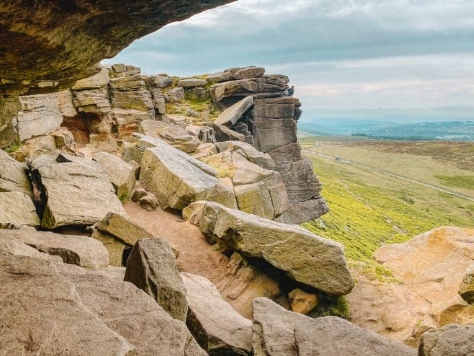 Looking back at Stanage Edge
