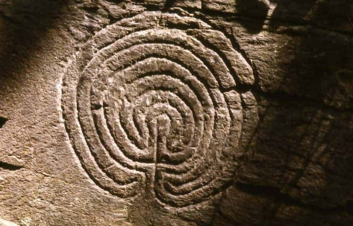 Rocky Valley Labyrinth Carvings