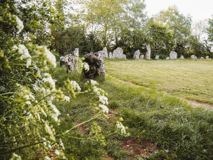 The Rollright Stones Kings Men Stone Circle in Oxfordshire
