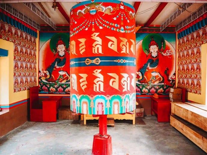 Buddhist temple in Sangti