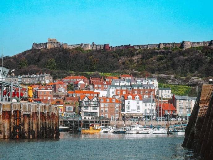 Scarborough Castle from the sea