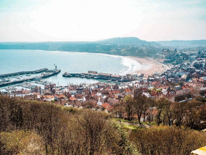 The views of South Bay from Scarborough Castle