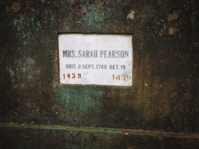 Mrs.S.Pearson Tomb in Park Street