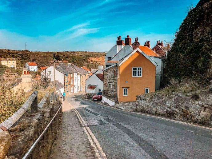 The hill down to Staithes Village