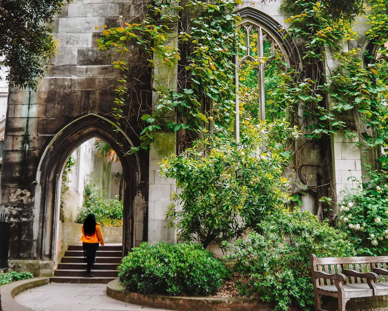 St Dunstan in the East Church Garden London