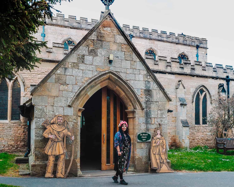 St Marys Church Edwinstowe where Robin Hood and Maid Marian were Married