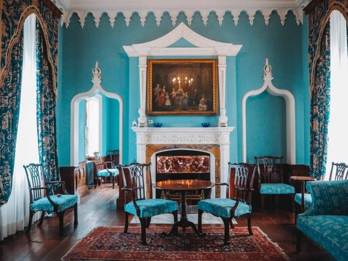 St Michaels Mount blue drawing room