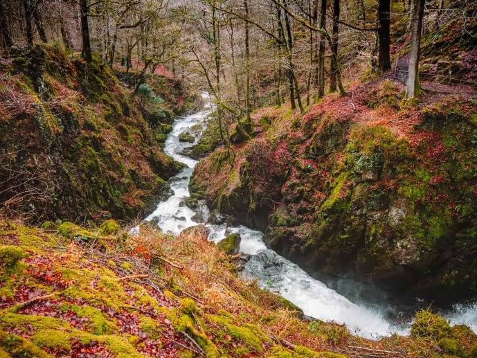 Stock Ghyll Force Waterfall walk