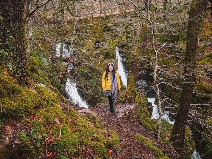 Stock Ghyll Waterfall in Ambleside