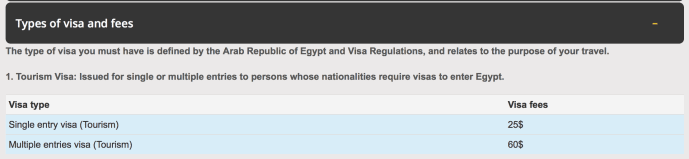 how to get a visa for egypt as a UK citizen