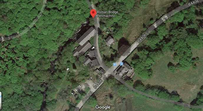Penmachno Roman Bridge Location