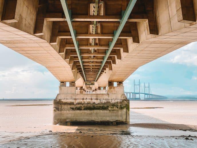 What's underneath the Severn bridge