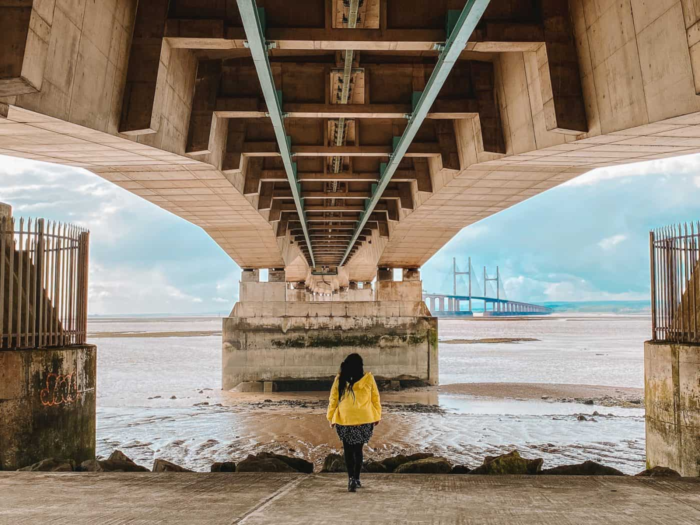 Severn Beach Walk Under the Severn Bridge in England