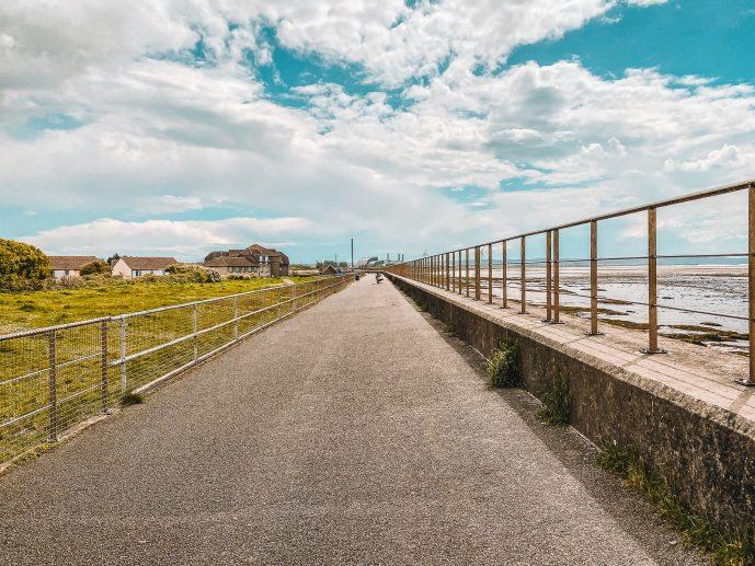 Severn Beach walk sea wall