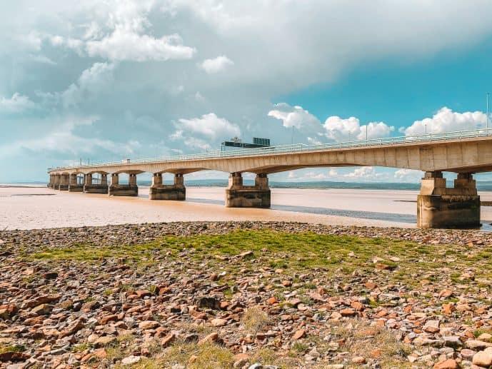 Severn Bridge view from Severn Beach