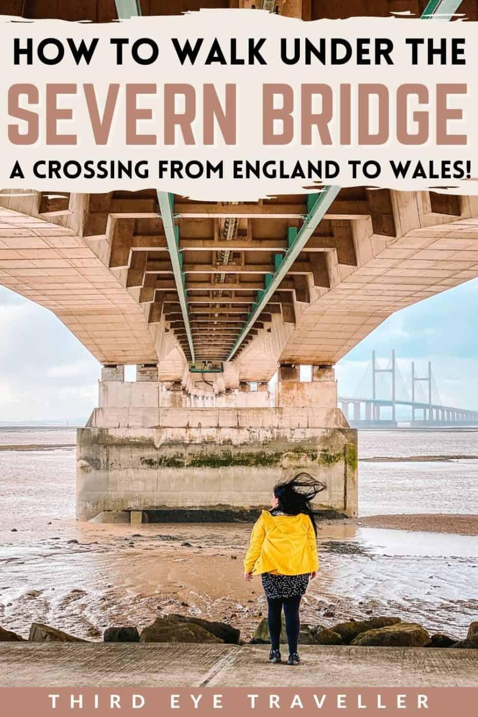 Severn Beach Walk Under the Severn bridge England to Wales