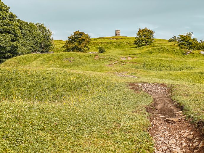 Solomon's Temple Buxton View from Grin Low Hill Barrow