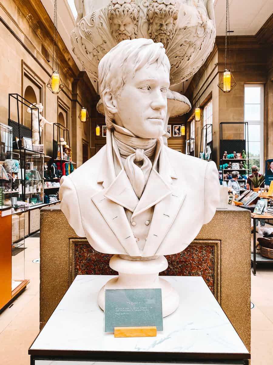 Matthew Macfadyen Darcy Bust Chatsworth House