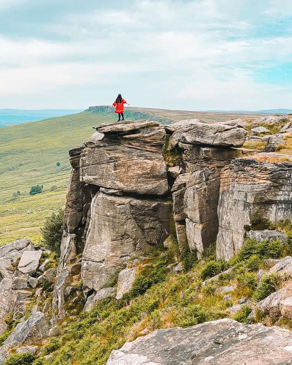 Stanage Edge Pride and Prejudice Filming location Keira Knightly Rock