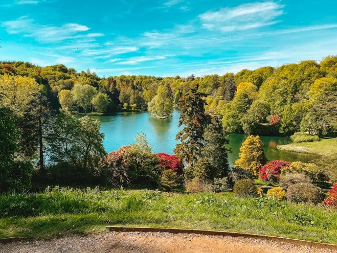 view from the temple of Apollo stourhead