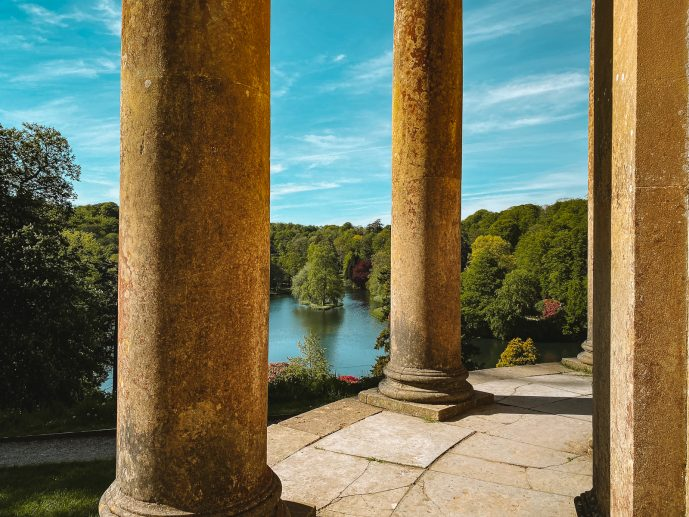 The views from the Temple of Apollo Stourhead