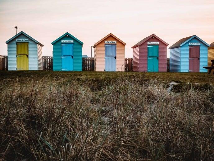 rainbow huts in amble