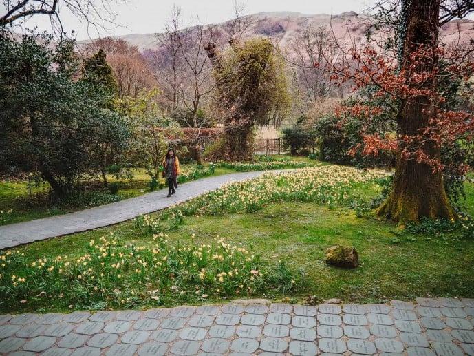 Wordsworth memorial Gardens Grasmere